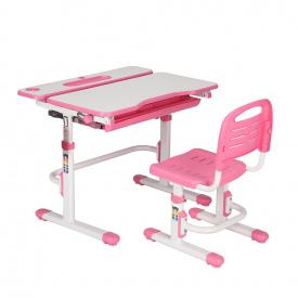 Ергономічний комплект парта і стілець-трансформери Botero Pink