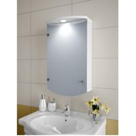Шкаф зеркальный Garnitur.plus в ванную с LED подсветкой 2SZ (DP-V-200101)