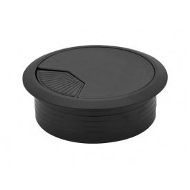 Заглушка кабельная пластиковая GIFF черный