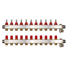 Коллектор Danfoss SSM-F на 11 контуров с ротаметрами (088U0761)