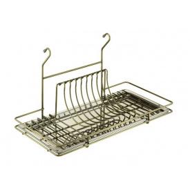 Полка к рейлингу d=16 для посуды Lemax бронза 1 поддон MX-070