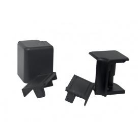 Комплект к плинтусу VOLPATO черный 2 заглушки 1внешн.+1внутр. угол мм 4200 16х26мм