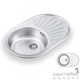 Кухонна мийка Ukinox Favorit 770.480 GT 6K L декор оборотна
