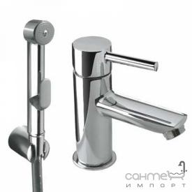 Змішувач для раковини з гігієнічним душем Tres Lex-Tres 1.81.113 Хром