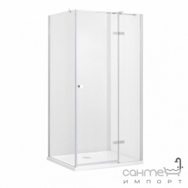 Квадратна душова кабіна Besco Pixa R 90x90x195 прозоре скло правобічна