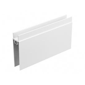 Горизонтальный профиль нижний Slider мм 5000 белый матовый