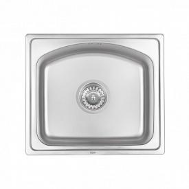 Кухонная мойка Qtap 4842 Micro Decor 0,8 мм (QT4842MICDEC08)