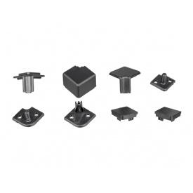 Комплект уголков и заглушек черный матовый к плинтусу VOLPATO мм 4200 15х15 мм