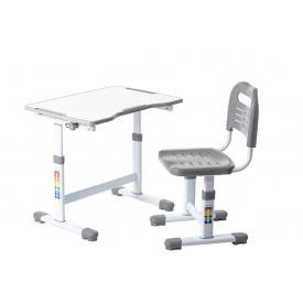 Комплект парта і стілець-трансформери Sole II Grey