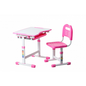 Комплект парта і стілець-трансформери Sole Pink