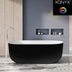 Отдельностоящая ванна из литого камня Balteco Marin 179 белая внутри/Brown Beige RAL 1001