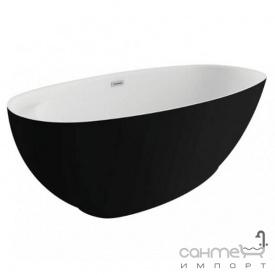 Отдельностоящая ванна Polimat Kivi 165x75 00473 белая/черная матовая