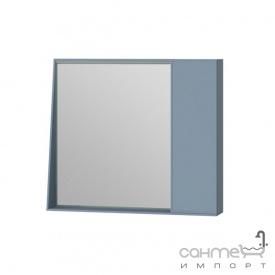 Зеркальный шкаф Ювента Manhattan 80 с LED подсветкой и выключателем голубой