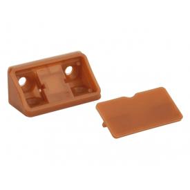 Куточок меблевий подвійний пластиковий GIFF кальвадос