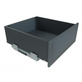 Выдвижной ящик с отталкивателем GIFF PRIME FlatBox мм 450 мм 167 графит