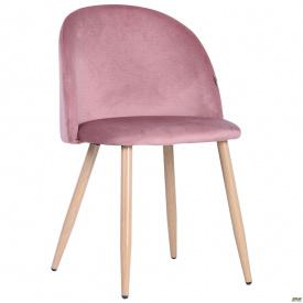 Стул обеденный Sherry beech/pink velvet