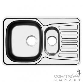 Кухонная мойка Ukinox Comfort COL 780.480 15 GT 8K декор