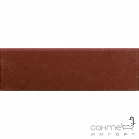 Клинкерная плитка плинтус 8x25 Gres de Aragon Cotto Rodapie Rojo красная