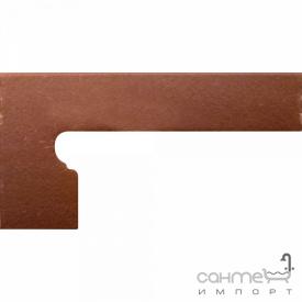 Клинкерная плитка боковина левая 20x39 Gres de Aragon Italia Zanquin left Parma коричневая