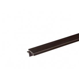 Профиль Gola L-образный в верхний модуль Volpato для ДСП 18 мм мм 4200 венге браш 80/G29