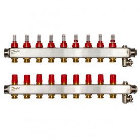 Коллектор Danfoss SSM-F на 9 контуров с ротаметрами (088U0759)