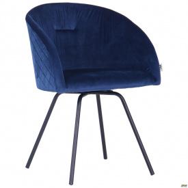 Кресло поворотное Sacramentoчерный/велюр темно-синий