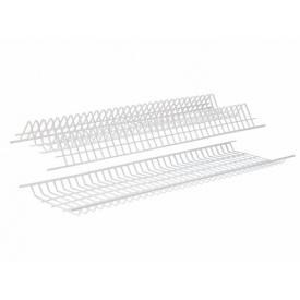 Посудосушитель фасад 900 GIFF белый (2 полки, 1 поддон и 8 креплений)