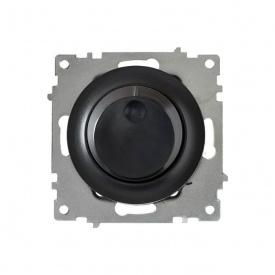 Светорегулятор 600 W для ламп накаливания и галогенных ламп, цвет чёрный (серия Florence) арт.1Е42001303