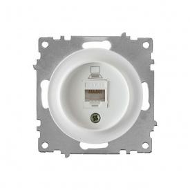 Розетка компьютерная 1xRJ45 кат.5e, цвет белый (серия Florence) арт.1Е20701300