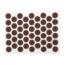 Заглушка конфирмата самоклеющаяся Weiss d=14 орех темный 50 шт 7455