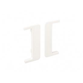 Заглушка открытая к С-образному профилю Gola Volpato Clap`n`FIT белый пара