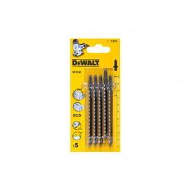 Пильное полотно DeWALT Т101В прямой чистый пропил 5 ед. DT2165