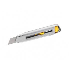 Нож STANLEY Interlock 18 мм сегментированное лезвие 165 мм металл 0-10-018