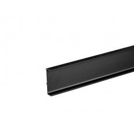 Профиль Gola L-образный универсальный Volpato Clap`n`FIT мм 4200 черный матовый 80/G38