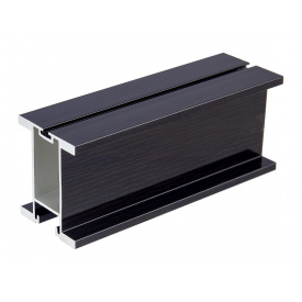 Профиль вертикальный закрытый с пазом под щетку Slider HARD мм 5300 венге глянец
