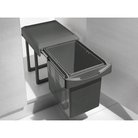 Ведро 16 л выдвижное для мусора INOXA ардезия