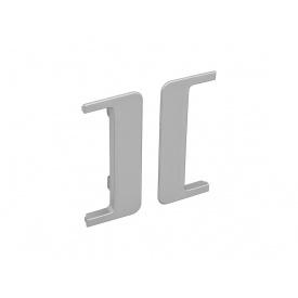 Заглушка открытая к С-образному профилю Gola Volpato Clap`n`FIT серый пара