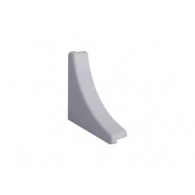 Заглушка к плинтусу кухонному Linken System треугольный алюминий гладкий вогнутый