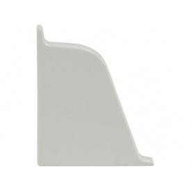 Заглушка к плинтусу 118 Rehau Светло-серый-левая 98102