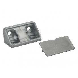Куточок меблевий подвійний пластиковий GIFF сірий