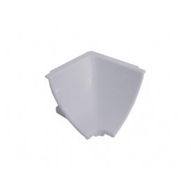 Угол к плинтусу кухонному Linken System треугольный алюминий гладкий вогнутый внутренний