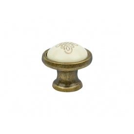 Ручка кнопка Virno Azure 100R MLC A16 бронза