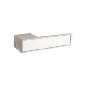Дверна ручка TUPAI BIG 3084RT Матовий нікель, вставка BM біла матова