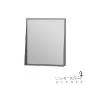 Зеркало в ванную комнату Ювента Manhattan 60 с LED подсветкой и выключателем серое