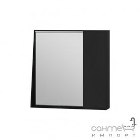 Зеркальный шкаф Ювента Manhattan 70 с LED подсветкой и выключателем черный