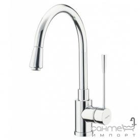 Кухонный смеситель с выдвижным душем SystemCeram Soft shower 10563 Матовый Хром