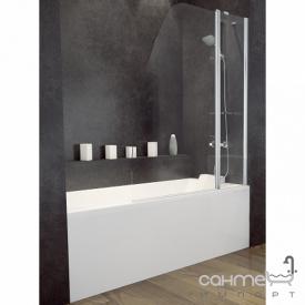 Шторка для ванны Besco Avis 120х145 профиль хром стекло прозрачное