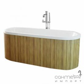 Ванна из композита без панели встраиваемая с сифоном Besco Victoria 185x83 белая