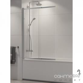 Шторка для ванни New Trendy Sensi P-0038 профіль хром / прозоре скло