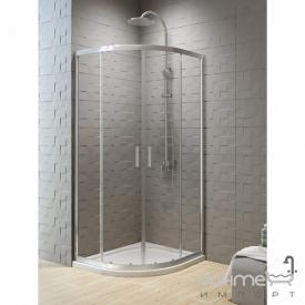 Напівкругла душова кабіна New Trendy New Varia K-0498 профіль хром / скло графіт